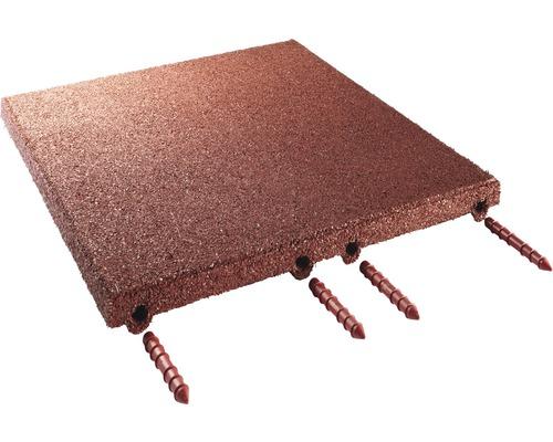 Dalle pour écurie terrasoft 12 m² rouge brun compression plus élevée 50x50x4cm 48 pièces 31,2 kg/m²