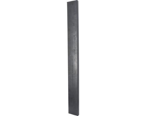 Élément mural pour box d''écurie 13,5x4x129cm noir 10 pièces