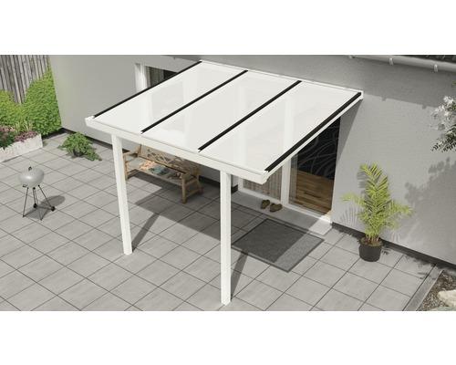Toiture pour terrasse Easy Edition avec polycarbonate opale 300x250 cm blanc