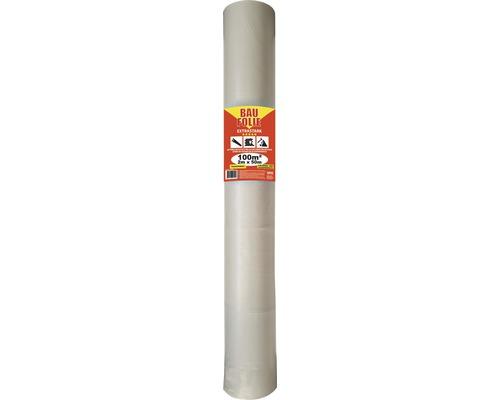 Bâche de chantier LDPE transparente 0,1mm 2 x 50 m rouleau = 100 m²