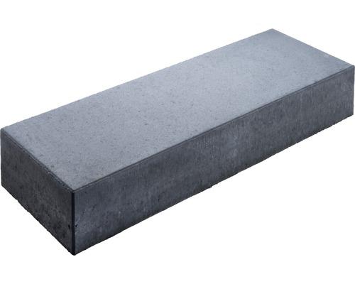 Bloc de marche en béton anthracite 100x35x16 cm