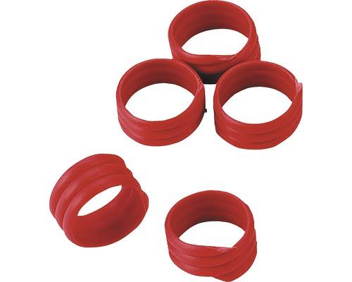 Bagues de marquage à spirale Ø16mm 20 pièces rouge