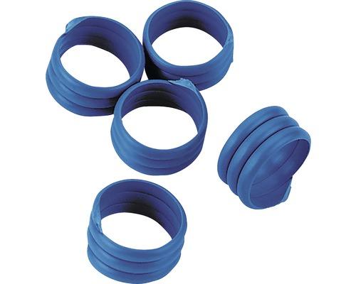 Bagues de marquage à spirale Ø16mm 20 pièces bleu
