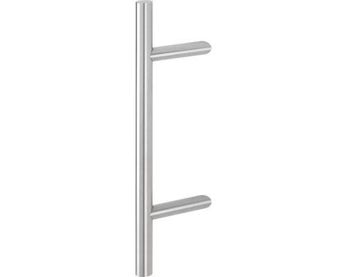 Poignée-poussoir Hoppe E5012 supports inclinés L 500 mm distance entre les trous 300 mm acier inoxydable