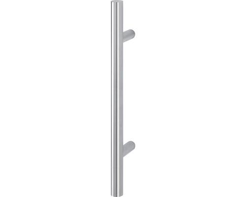 Poignée-poussoir E5011 supports droits L 500 mm distance entre les trous 300 mm acier inoxydable