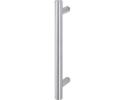 Poignée-poussoir E5011 supports droits L 400 mm distance entre les trous 300 mm acier inoxydable