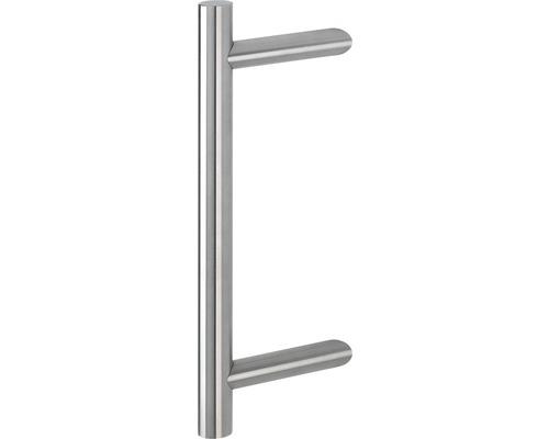 Poignée-poussoir Hoppe E5012 supports inclinés L 330 mm distance entre les trous 210 mm acier inoxydable