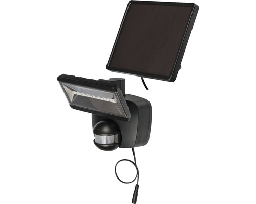 Projecteur solaire à capteur à LED SOL 800 IP44 avec panneau solaire 400 lm 6000 K blanc naturel avec détecteur de mouvements anthracite durée d''éclairage env. 3,5 h Brennenstuhl