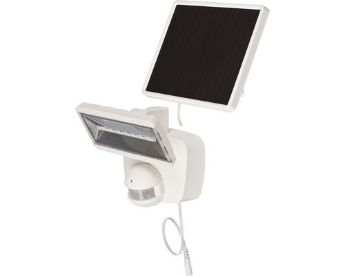 Projecteur solaire à capteur à LED SOL 800 IP44 avec panneau solaire 400 lm 6000 K blanc naturel avec détecteur de mouvements blanc durée d''éclairage env. 3,5 h Brennenstuhl