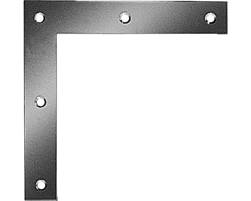 Cornière d'angle carrée 160x160x30mm, galvanisée sendzimir, 1 unité