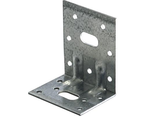 Schwerlast-Winkelverbinder m. Sicke 50 x 77 x 64 mm, sendzimirverzinkt, 1 Stück