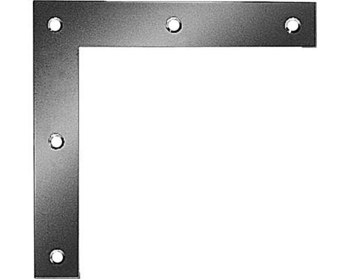 Équerre d''angle carrée 200x200x30mm, galvanisée sendzimir, 1 unité