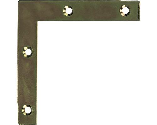 Angle de meuble 75x75x12mm, galvanisé jaune, 1 unité
