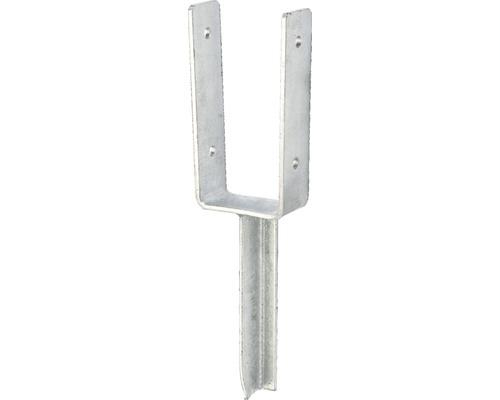 Support de poteaux en U avec ancre en béton 81x200x200mm, galvanisé à chaud, 1 unité