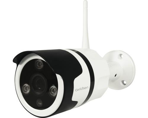 Caméra de surveillance Wi-Fi IP zone extérieure résolution 720P vision nocturne blanc avidsen