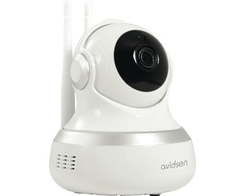 Caméra de surveillance Wi-Fi IP zone intérieure résolution 720P vision nocturne blanc avidsen