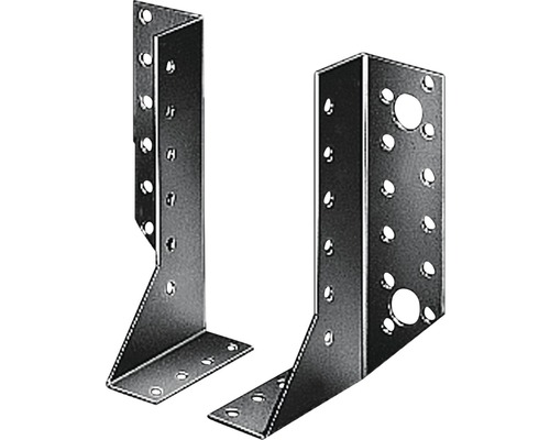 Sabot de solive à droite 25x140mm, galvanisé sendzimir, 1 unité