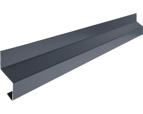 Profilé de rebord anti-goutte pour raccordement mural PRECIT accessoire universel Smart anthracite grey RAL 7016 2 m