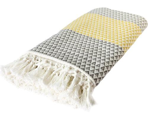 Decke Dana braun gelb weiß 150x200 cm