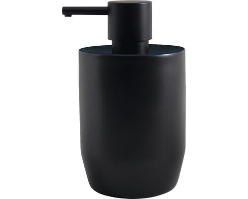 Distributeur de savon Spirella Jaro noir/pétrole