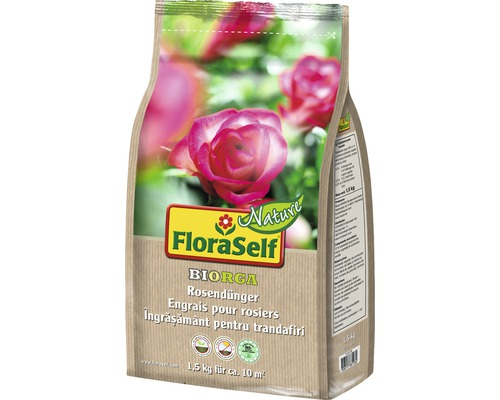 Engrais pour roses FloraSelf Nature BIORGA engrais organique 1,5 kg