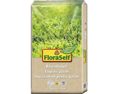 Engrais pour gazon FloraSelf Nature engrais organique 7,5 kg 190 m²