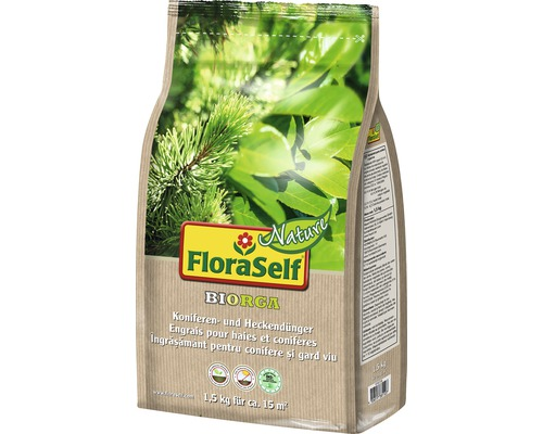 Engrais pour conifères et haies FloraSelf Nature BIORGA engrais organique 1,5 kg