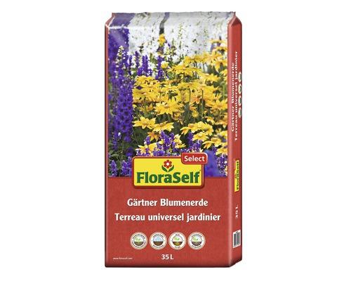 Gärtnerblumenerde FloraSelf Select, 35 L