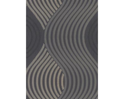 Papier peint intissé 1004515 GMK Fashion for Walls vagues 3D noir