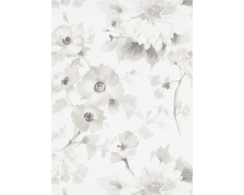 Papier peint intissé 1005131 GMK Fashion for Walls fleur blanc gris