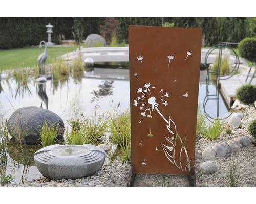 Sichtschutzzaun Dandelion 80 x 180 cm, rost
