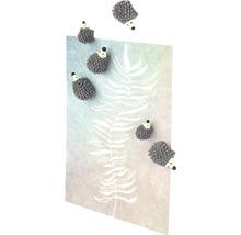 Aimant décoratif hérisson lot de 6 gris-thumb-1