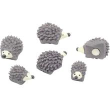 Aimant décoratif hérisson lot de 6 gris-thumb-0