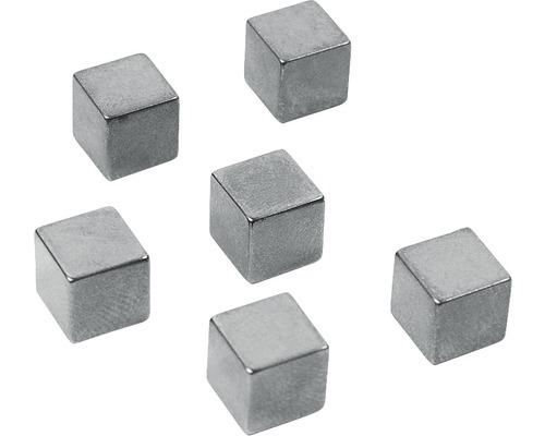 Aimant décoratif Cube Medium graphite