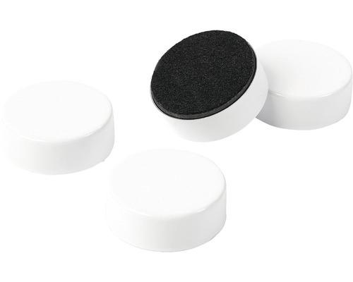 Aimant décoratif White set de 4 blanc