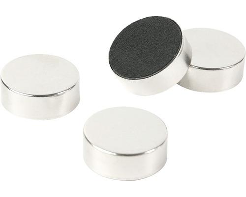 Aimant décoratif Silver set de 4 argent