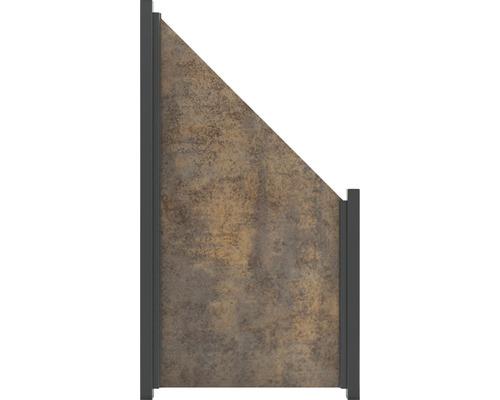 Élément de finition GroJa céramique 90x180/90cm aspect rouille