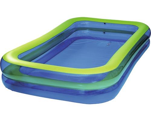 Pataugeoire 305x183x50cm plastique multicolore avec vanne d''évacuation de l''eau 2 anneaux