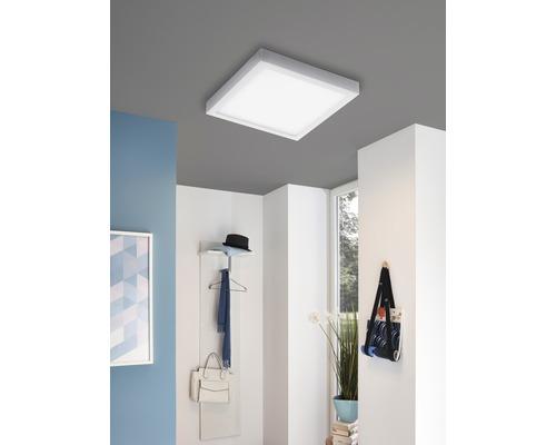 Plafonnier LED RGB CCT à intensité lumineuse variable 21W2700 lm2765 K blanc chaud Ø 380 mm Crosslink blanc