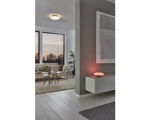 Plafonnier LED RGB CCT nickel/mat à intensité lumineuse variable 27W 3400 lm 2765 K blanc chaud Ø 435 mm