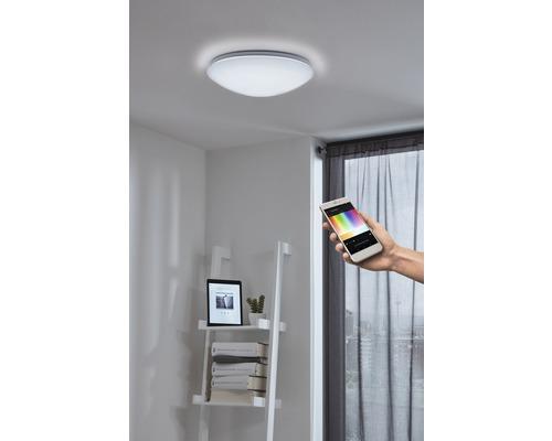 Plafonnier LED RGB CCT blanc à intensité lumineuse variable 17W 2100 lm 2765 K blanc chaud Ø 300 mm