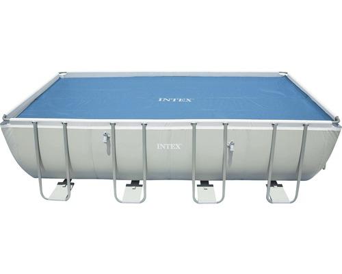 Intex couverture solaire pour Ultra Frame plastique carré 732x366 cm bleu