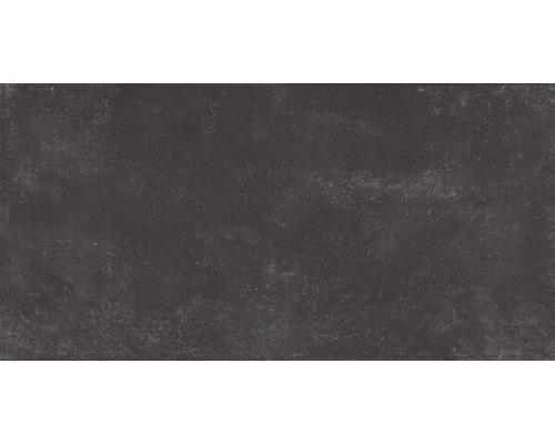 Carrelage pour mur et sol en grès cérame fin Marlin noir 30x60cm