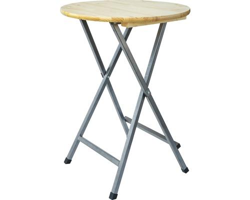 Table haute Ø 80 H 110 cm épicéa naturel