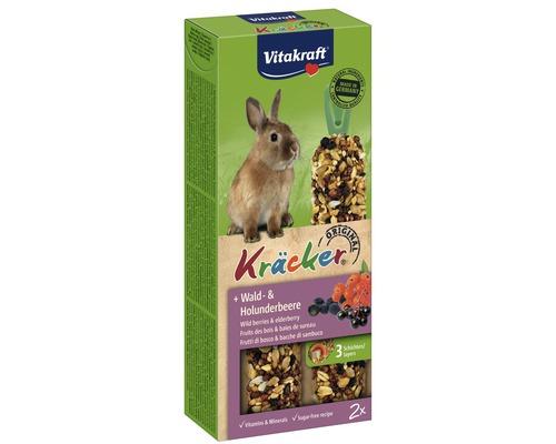 Snack pour rongeurs Vitakraft Kräcker®, baies des bois, 2 morceaux, 112 g