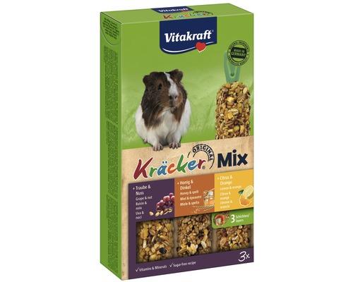 Snack pour rongeurs Vitakraft Kräcker® pour cochons d''Inde au miel + popcorn, 3 morceaux.