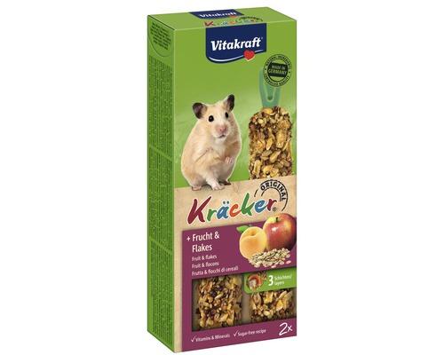 Snack pour rongeurs Vitakraft Kräcker® fruits pour hamsters, 2 morceaux