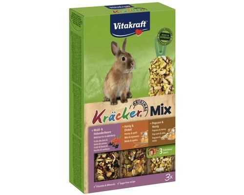 Snack pour rongeurs Vitakraft Kräcker® lapin nain au miel, 3 morceaux.