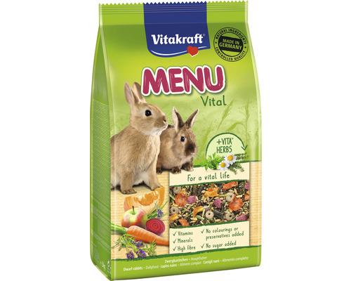 Snack pour rongeurs Vitakraft menu Vital pour lapin nain, 3 kg