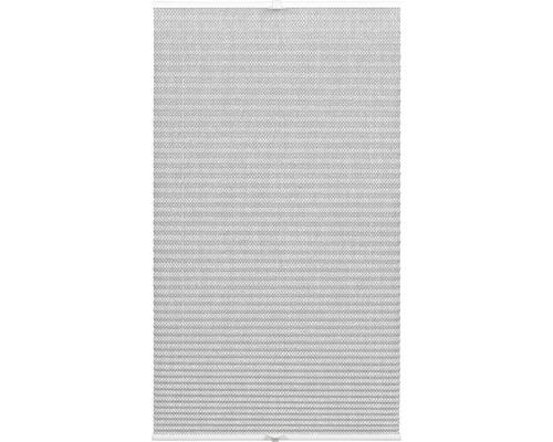 Store plissé tamisant Wohnidee 80x130 cm gris